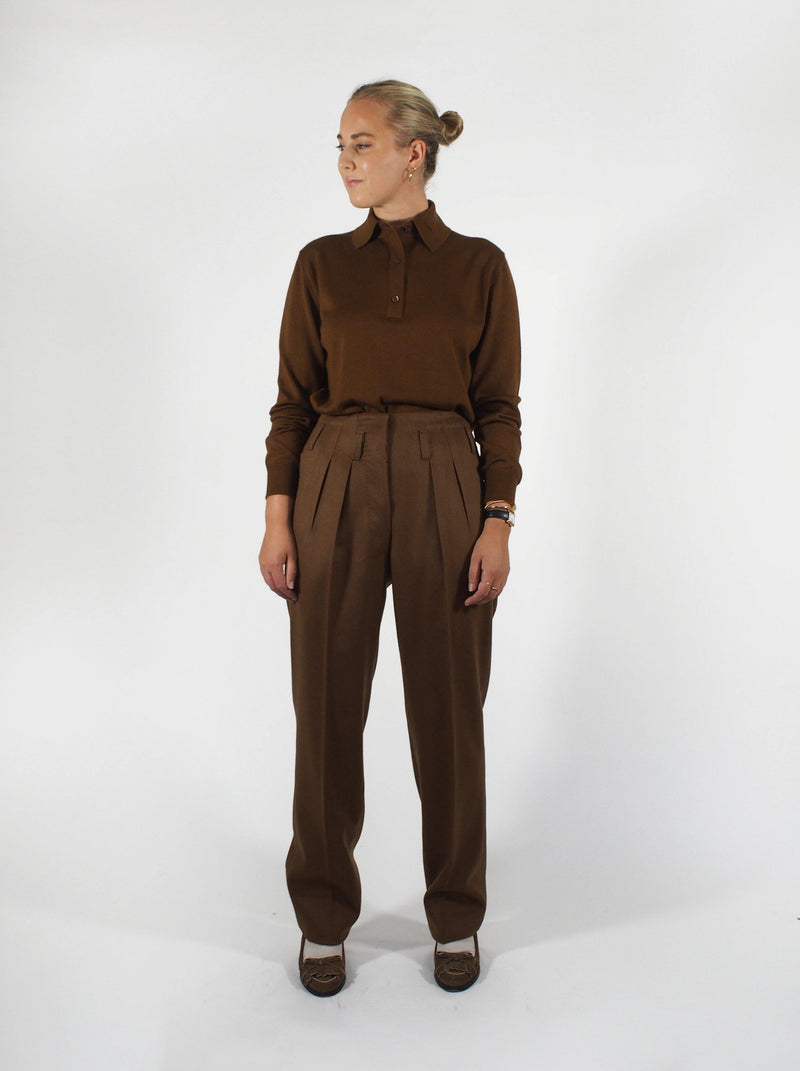 Camel Hair Trouser-Tobacco