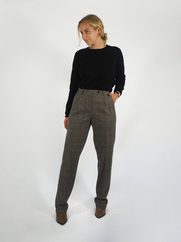 Houndstooth Pant - Beige