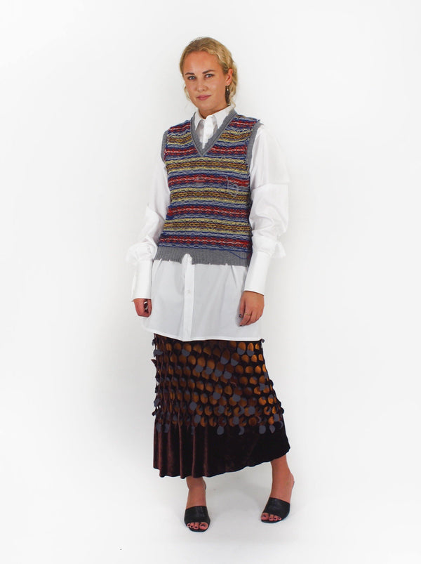 Reversed Fairisle Vest - Multi