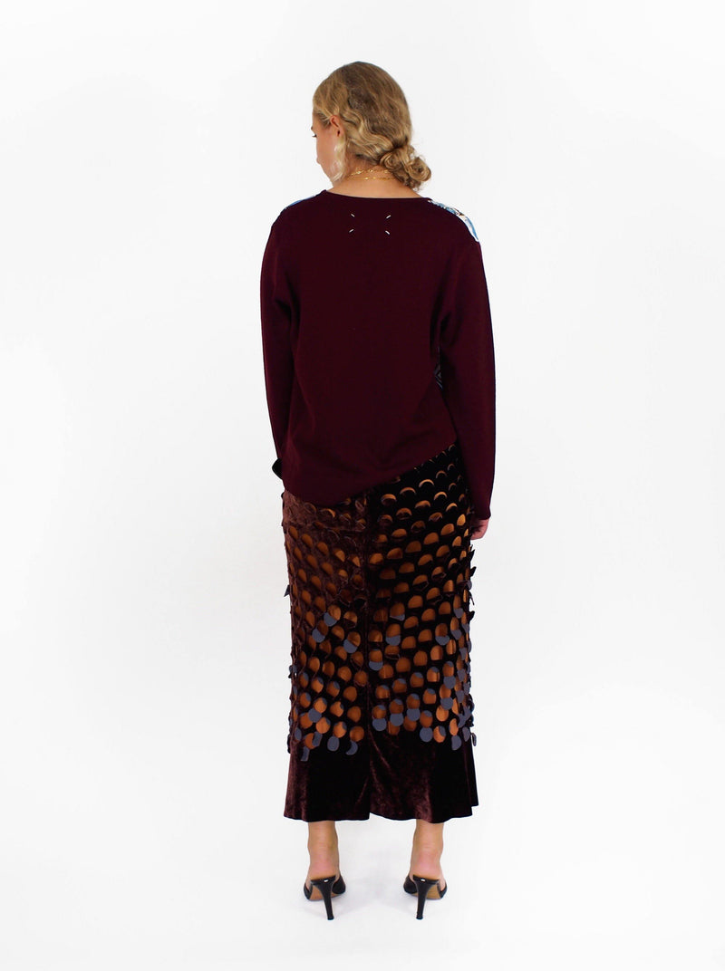 Silk Pools Pullover - Burgundy