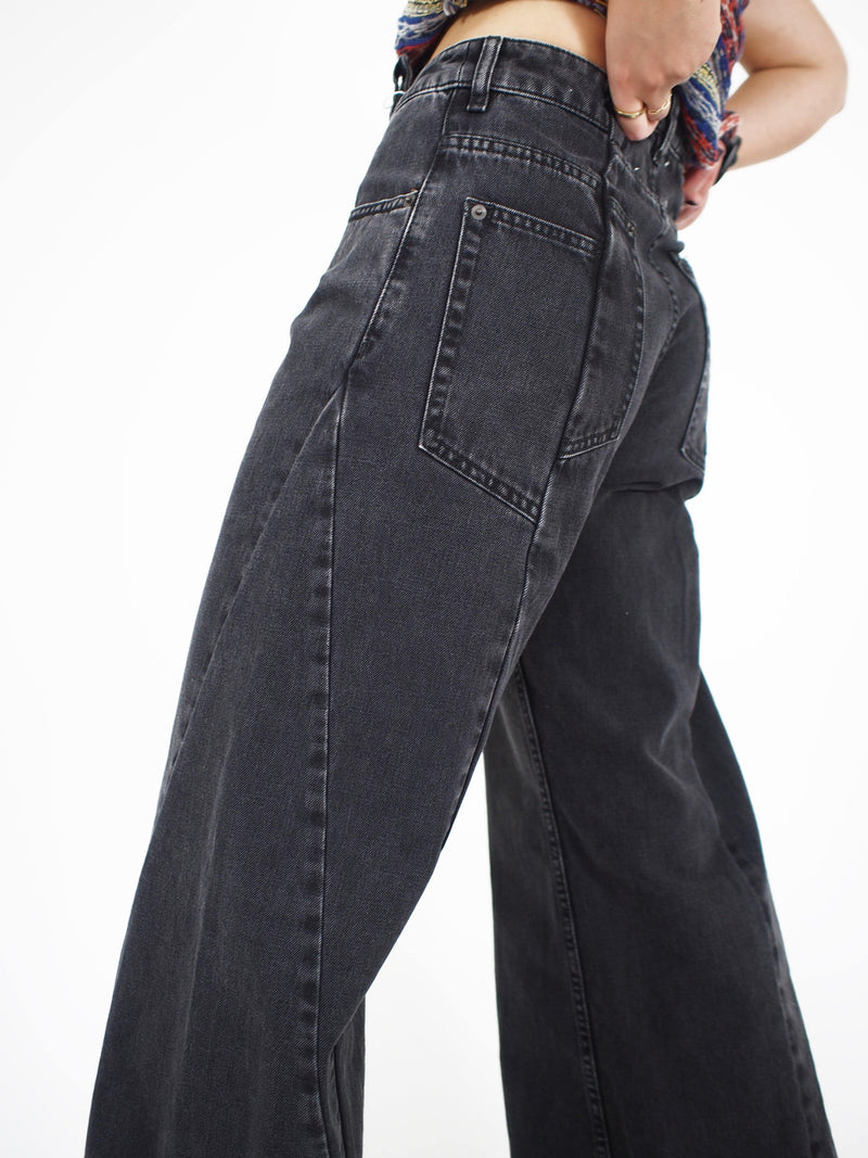 Maison Margiela - Multiple Wide Leg Denim - Black - Jeans - Boboli Vancouver Canada
