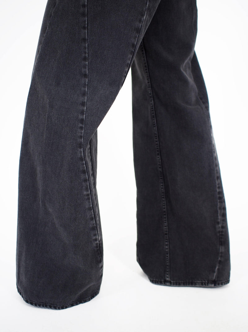 Multiple Wide Leg Denim - Black