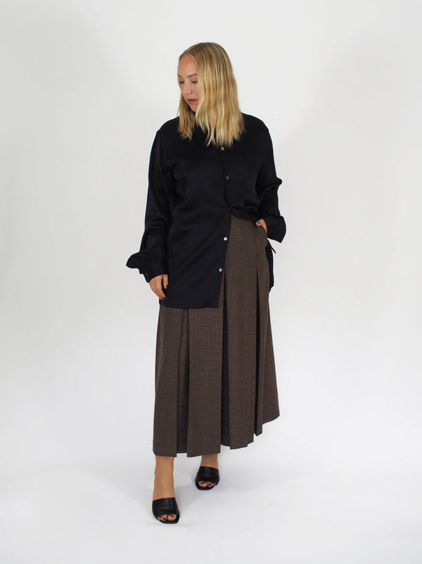 Maison Margiela - Puppy Tooth Long Culotte - Brown - Skirts - Boboli Vancouver Canada