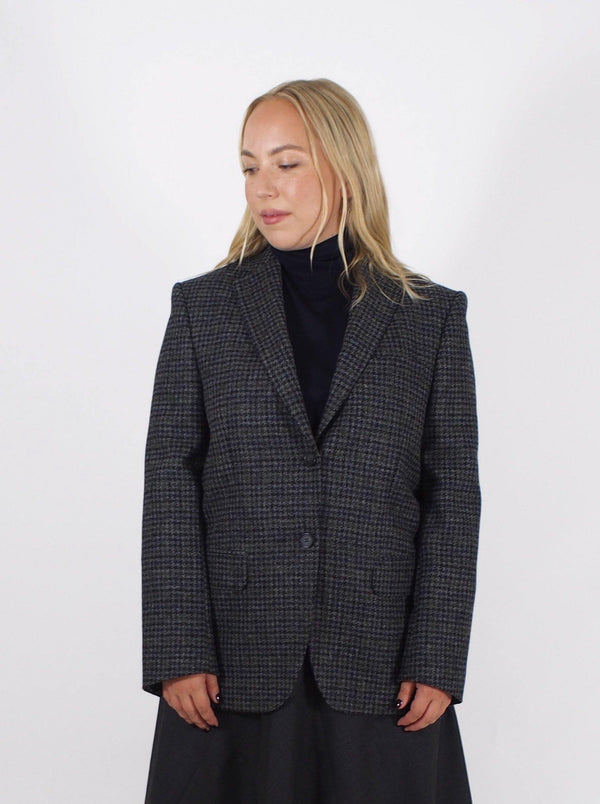 Charlene Houndstooth Jacket - Grey
