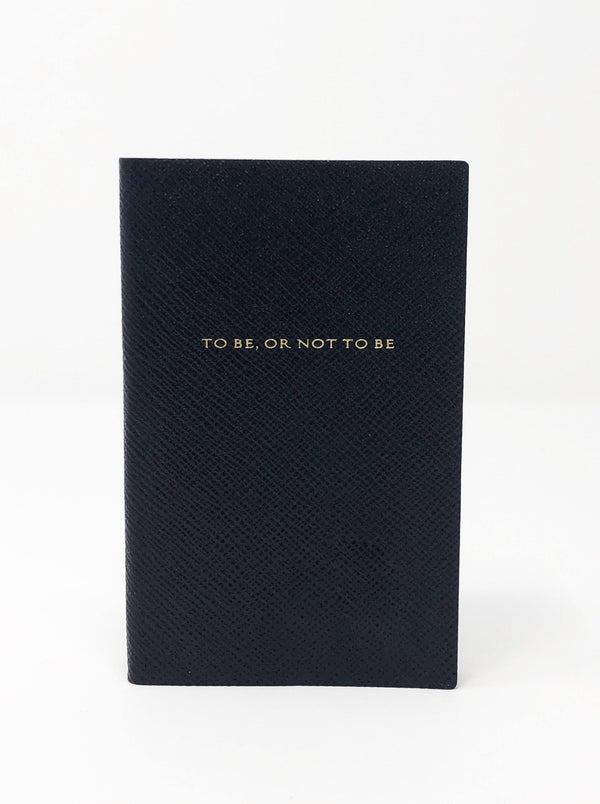 To Be Or Not To Be Notebook - Navy Blue