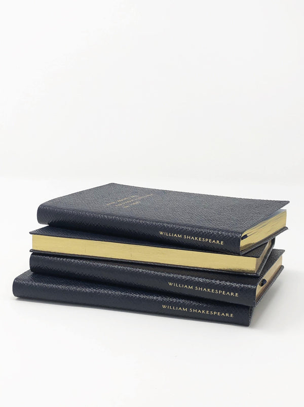 Smythson - To Be Or Not To Be Notebook - Navy Blue - Notebooks - Boboli Vancouver Canada