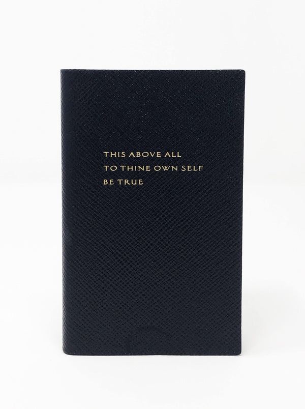 Smythson - This Above All Notebook - Navy Blue - Notebooks - Boboli Vancouver Canada