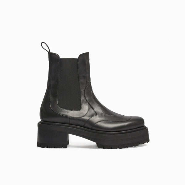 Elton Platform Ankle Boot - Black