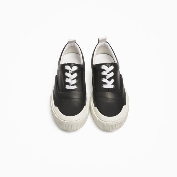 Ollie Leather Sneakers - Black
