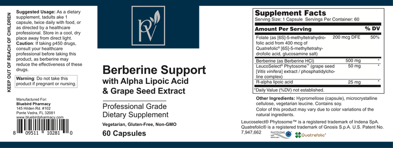Berberine Support W/Grape