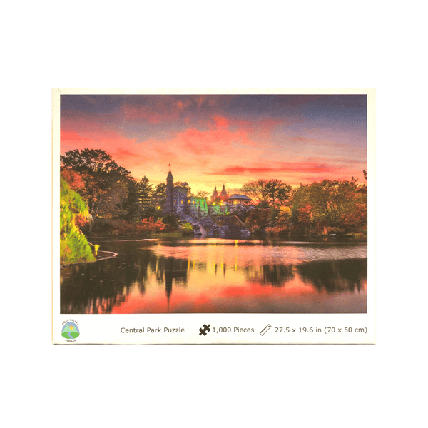 Sunset at New York City Central Park-Belvedere Castle, Scenic Jigsaw Puzzle for Adults, 1000 Pieces, 27.5 x 19.7 inches