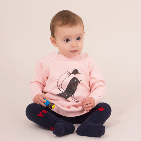 Baby Fleece Dress - Bird