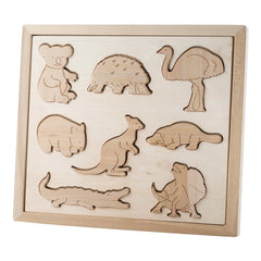 Wooden Sorting Puzzle - Animals Of Australia
