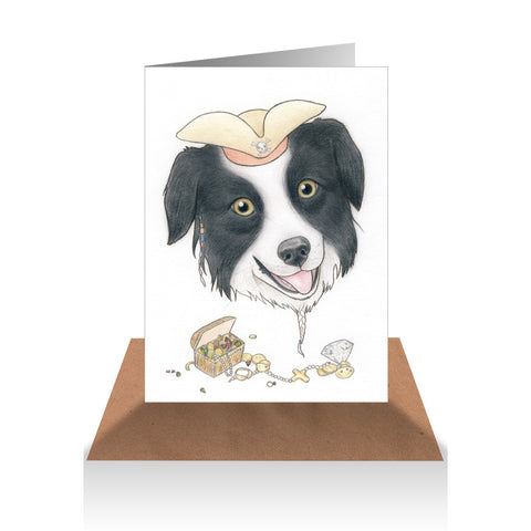 Border Collie Pirate Gift Card