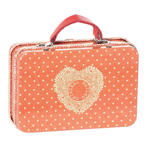 Mini Metal Suitcase - Small Dots