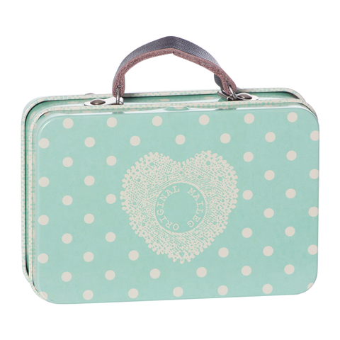 Mini Metal Suitcase - Big Dots