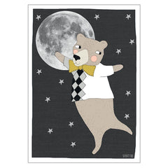 Unframed Print - Moonlight Bear