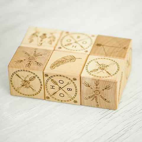 Wooden Blocks - Boho