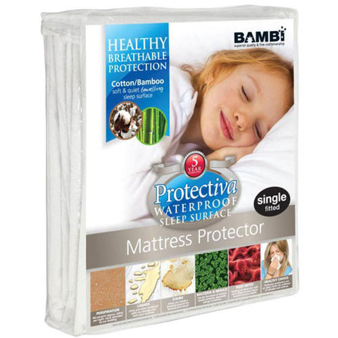 Waterproof Mattress Protector - Cotton/Bamboo Towelling