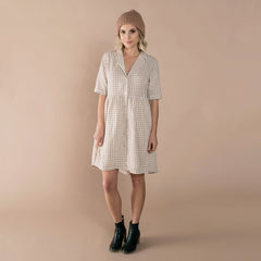 Womens Gingham Jeanette Dress