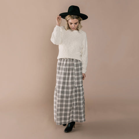 Womens Check Janise Skirt
