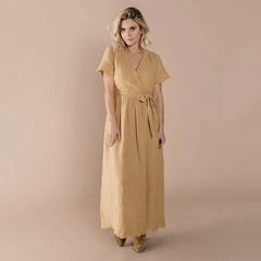 Womens Eyelet Wrap Dress