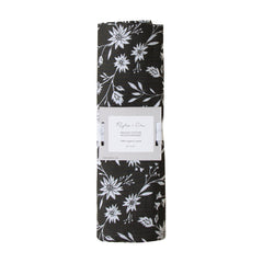 Organic Swaddle - Midnight Floral