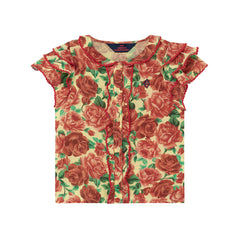 Parakeet Blouse - Flowers