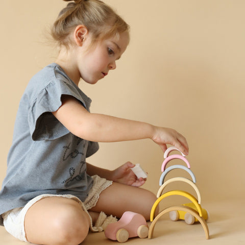Wooden Sand Small Arch Stacker