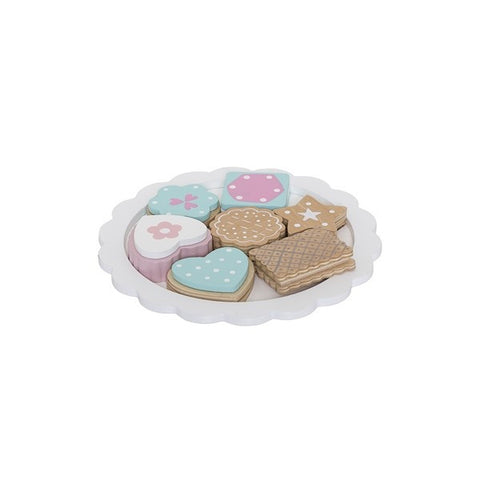 Wooden Play Set - Biscuits On Plate