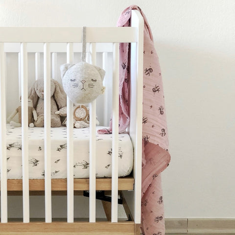 Olivia Fitted Cot Sheet - Fawn