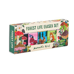 Forest Life Eraser Set