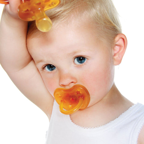 Natural Rubber Pacifier Anatomical Teat - Star & Moon