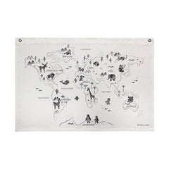World Map on Canvas - French Version