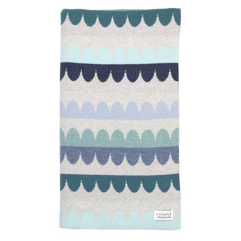 Molly Merino Wool Double Sided Small Scallop Blanket