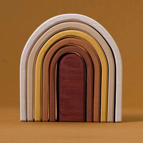 Wooden Rainbow Oval Arch Stacker