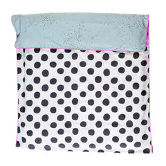 Single Doona Cover - Black Dot