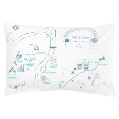 Pillowcase - Melbourne Map
