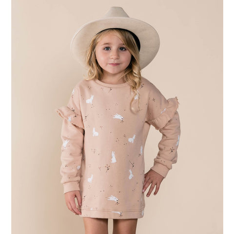 Snow Bunny Sweatshirt Dress