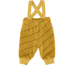 Plush Braces Pant - Diagonal Stripes