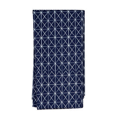 Single Fitted Sheet - Navy Folds