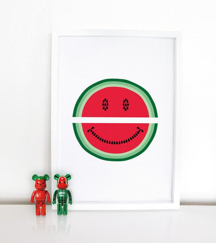 Unframed Print - Mr Watermelon