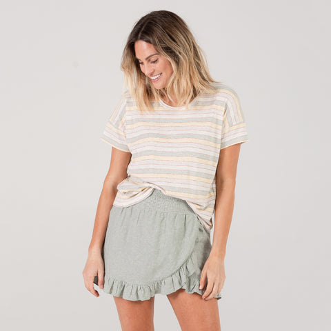 Womens Boxy Tee - Stripe