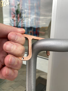ZeroHook C (Copper) - Handsfree keychain tool for doors and other public surfaces