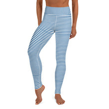 Load image into Gallery viewer, Blue Striped leggings, Capris and Shorts