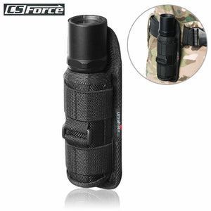 Outdoor Tactical Flashlight Pouch Holster 360 Degree Rotatable Clip Torch Cover for Belt Flashlight Holder Hunting Accessories