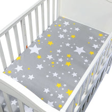 Load image into Gallery viewer, 100% Cotton Crib Fitted Sheet Soft Breathable Baby Bed Mattress Cover Cartoon Newborn Bedding For Cot Size 130*70cm/105*60