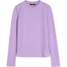 Load image into Gallery viewer, ELFSACK Purple Solid Minimalist Knit Casual Pullover Sweater Women 2020 Spring Black Pure Long Sleeve Korean Ladies Basic Top