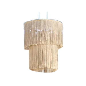 1Pc Hand-knitted Lampshade Macrame Hanging Lamp Decoration Living Room Wedding Decoration Tassel Lampshade Tapestry
