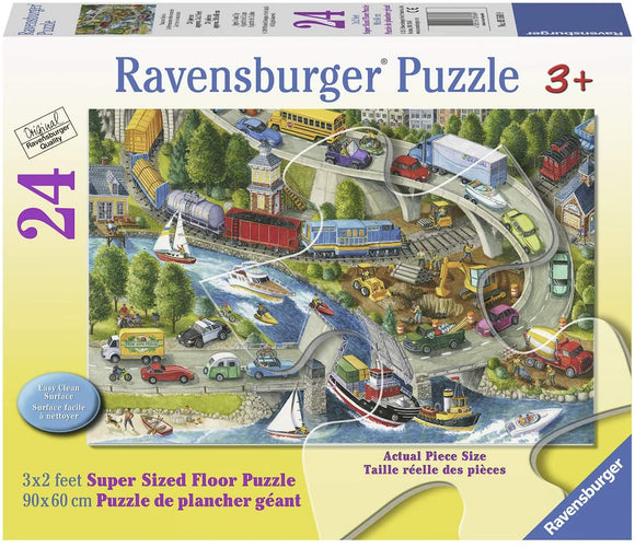 Ravensburger Vacation Hustle 24 pc Floor Puzzle